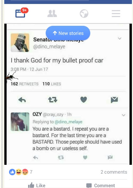 Assassination attempt: Dino Melaye attacked for praising his bulletproof car.