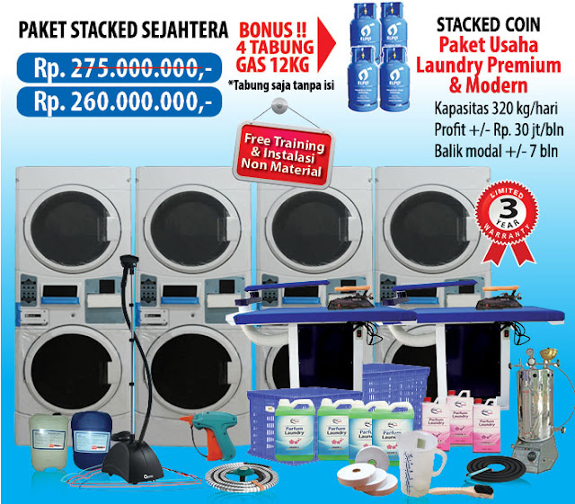 6-PAKET-SEJAHTERA-COIN Paket Usaha Laundry kredit Tanpa survey