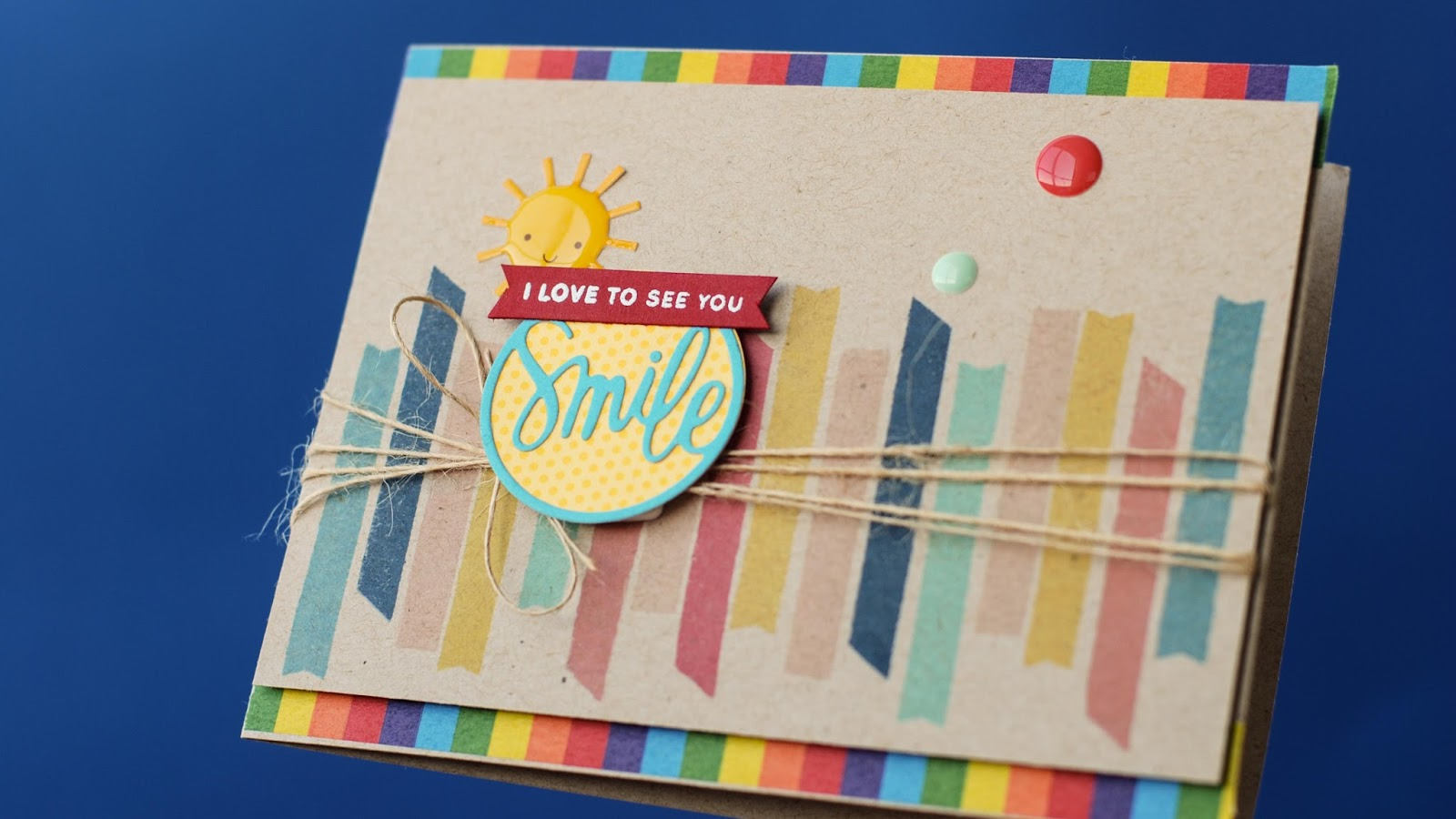 simon says stamp card kit june 2015 - close up from the side