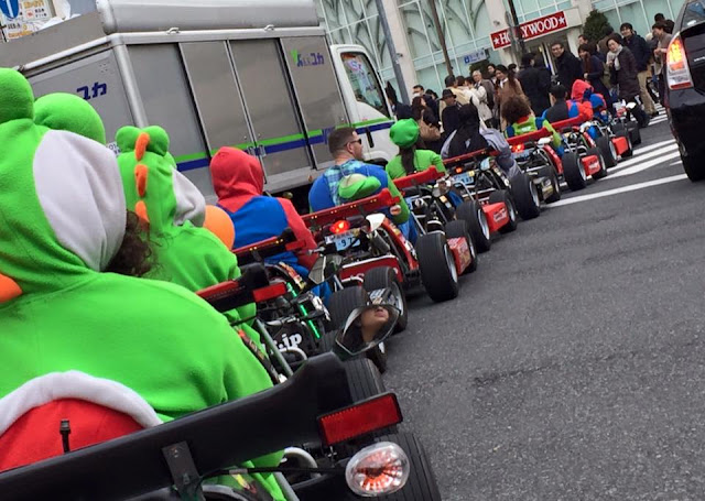 "Real World ""Mario Kart"" In Tokyo"