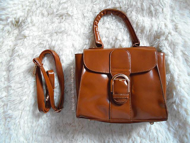 Buckle PU Leather Hangbag