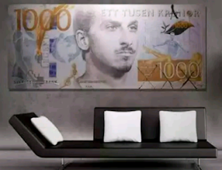 Zlatan Ibrahimovic's Head Immortalized On A Sweden Central Bank's Note 1,000 kroner