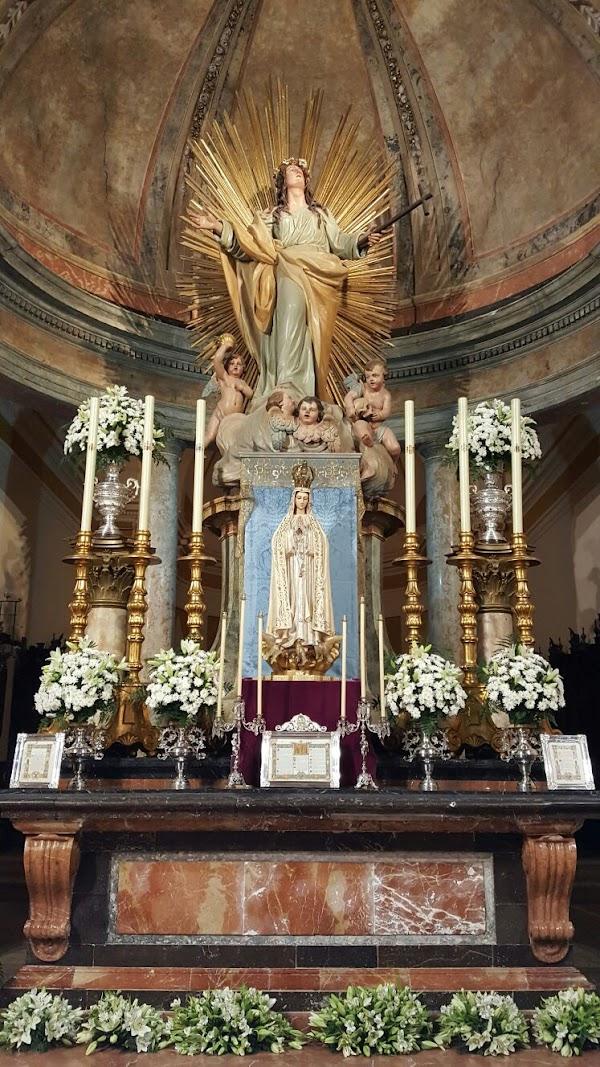 Hoy traslado de la Virgen de Fátima en Arahal