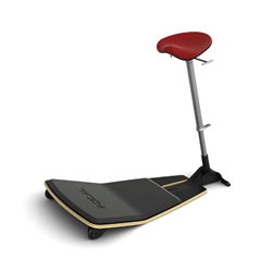 Safco Focal Locus Leaning Chair with Anti Fatigue Mat