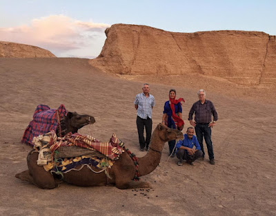 """Exotic and spectacular, the desert is one of the most popular experiences among visitors to Iran. Furthermore, riding camels is often regarded as one of the top """"must-do"""" experiences in deserts of Iran. It's an optional activity of desert tours that offers the breathtaking experience of riding one of the largest land mammals."""