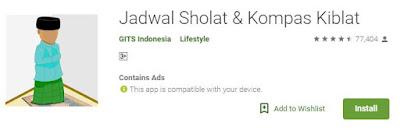 Aplikasi Sholat dari Gits Indonesia