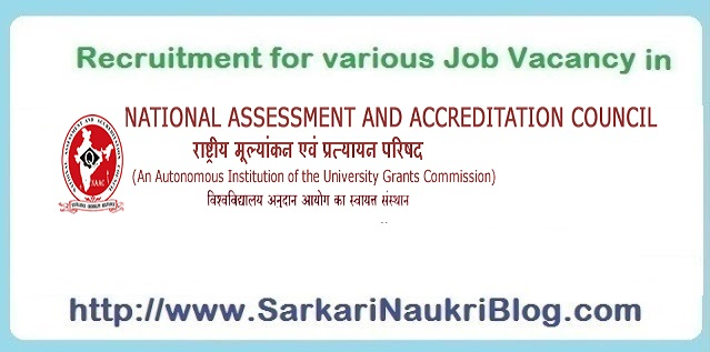 Naukri Vacancy Recruitment in NAAC