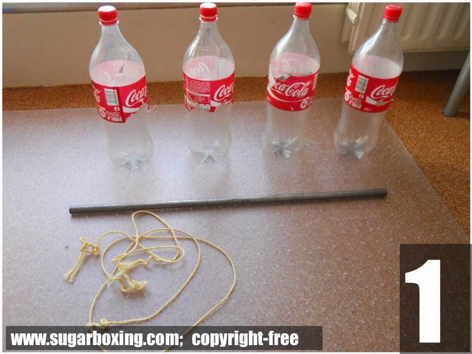 Material para fazer pesos caseiros para musculação