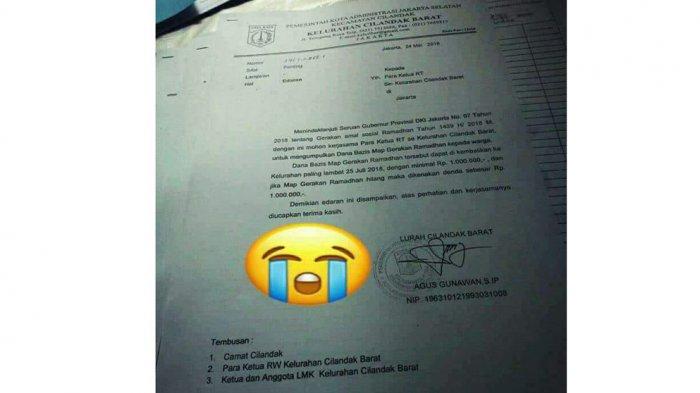 Usai Air Tinja & Pohon Imitasi Di Trotoar, Kini Muncul Lurah Di Jakarta Patok Zakat Satu RT Rp 1 Juta, Viral Di Medsos