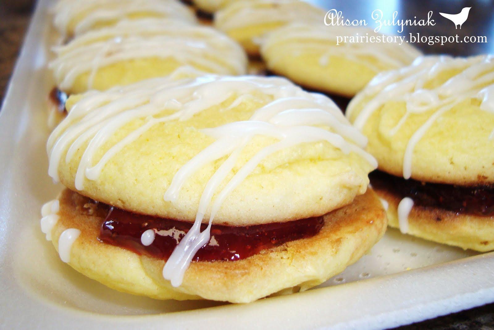 Prairie Story Lemon Strawberry Imperial Cake Cookies