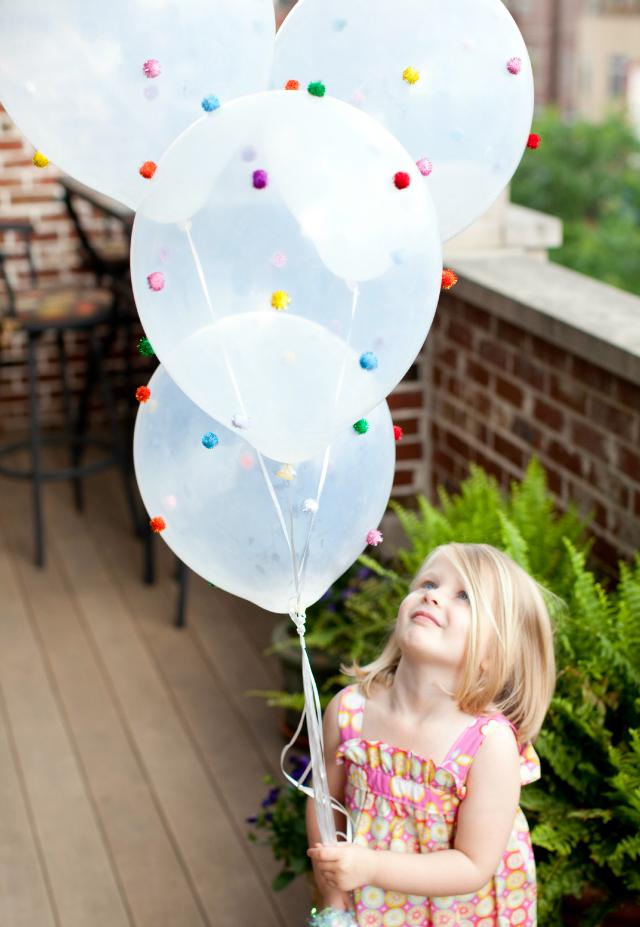 Pom pom balloons!