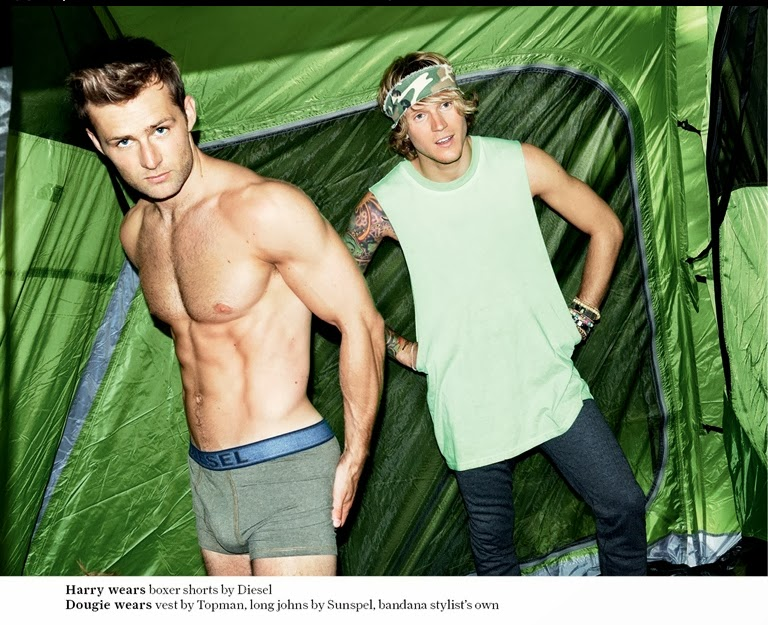 Harry Judd Bulge - McFly Goes Camping with Attitude