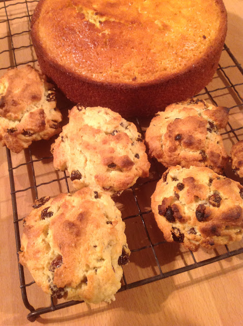 Rock cakes cooling