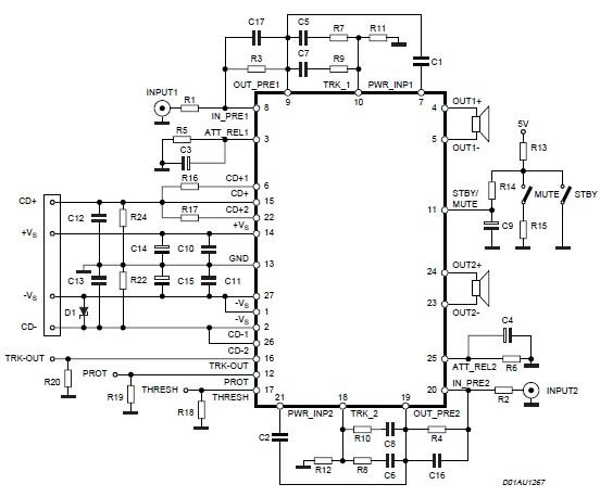 200 watt stereo amplifier power circuit diagram electronic