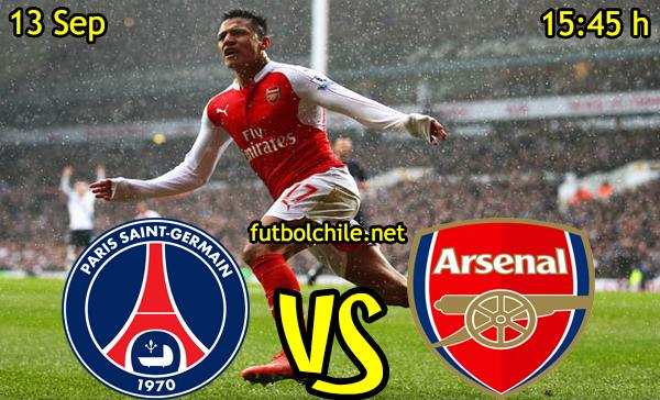 Ver stream hd youtube facebook movil android ios iphone table ipad windows mac linux resultado en vivo, online: París Saint-Germain vs Arsenal,