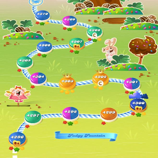 Candy Crush Saga level 4296-4310