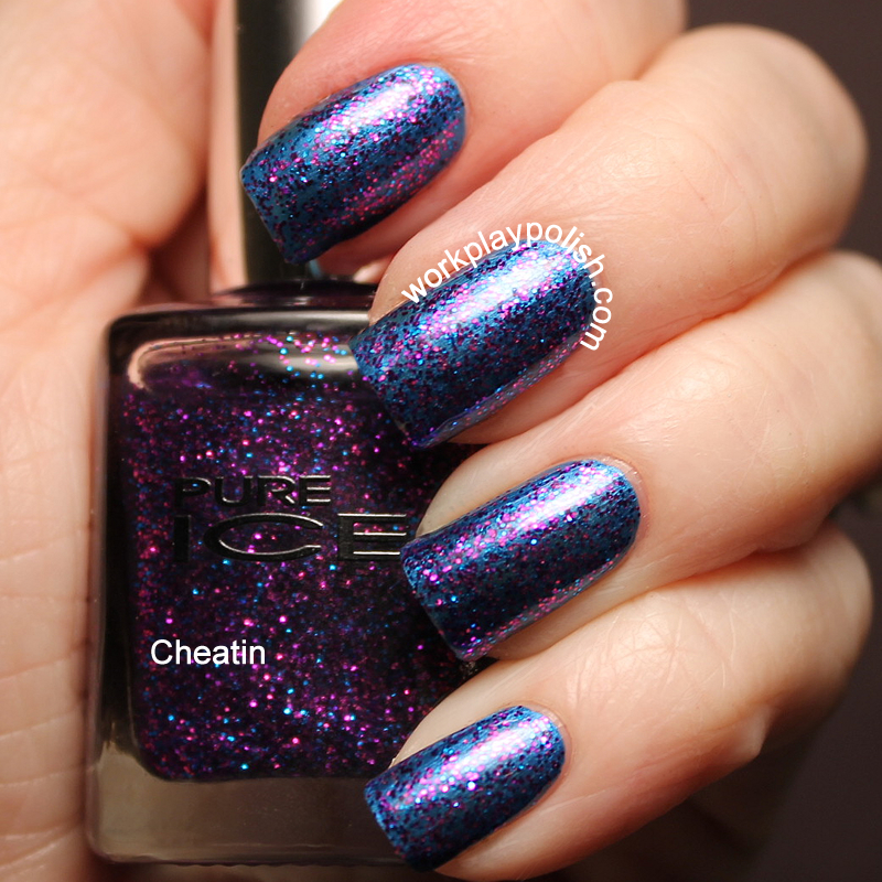 Pure Ice Cheatin Swatch (work / play / polish)