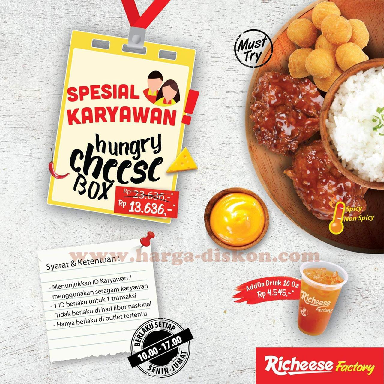 Promo Richeese Factory Hungry Cheese Box Rp13 636 Periode 15 19
