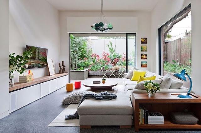 không gian phòng khách thoáng đãng rộng rãi