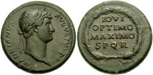 Medallón romano emperador Adriano