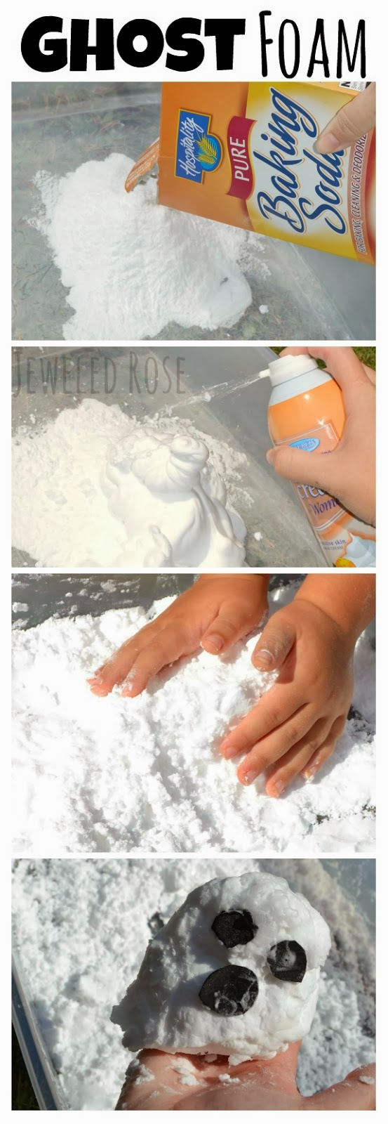 GHOST FOAM RECIPE- this stuff is so fun!