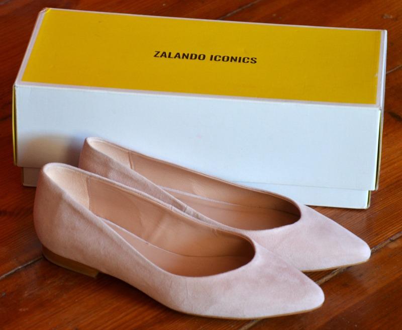 zalando buty, baleriny, Zalando, nude