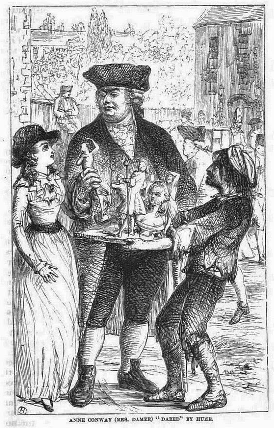 Anne Conway (Mrs Damer) 'dared' by Hume  from Queens of Society  by G and P Wharton (1860)