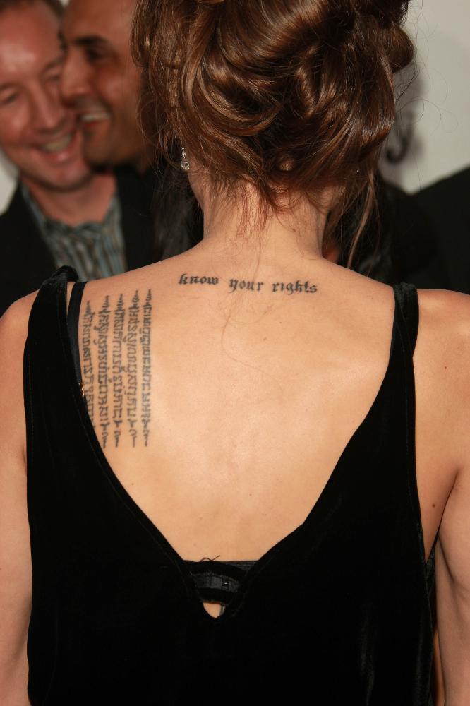 angelina jolie tattoos 2011 |Fun Stock Images