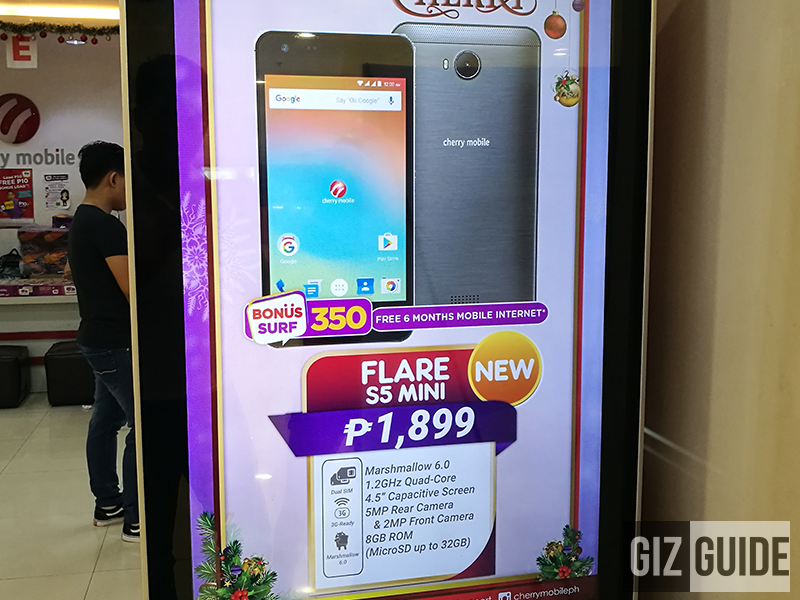 Cherry Mobile Flare S5 Mini Has A 5 MP Main Camera For PHP 1899! A 5 MP Main Camera For PHP 1899!