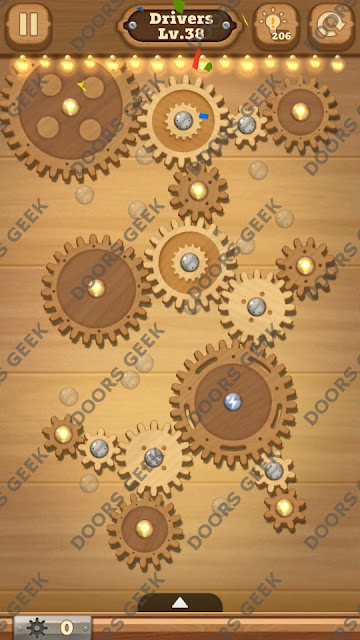 Fix it: Gear Puzzle [Drivers] Level 38 Solution, Cheats, Walkthrough for Android, iPhone, iPad and iPod
