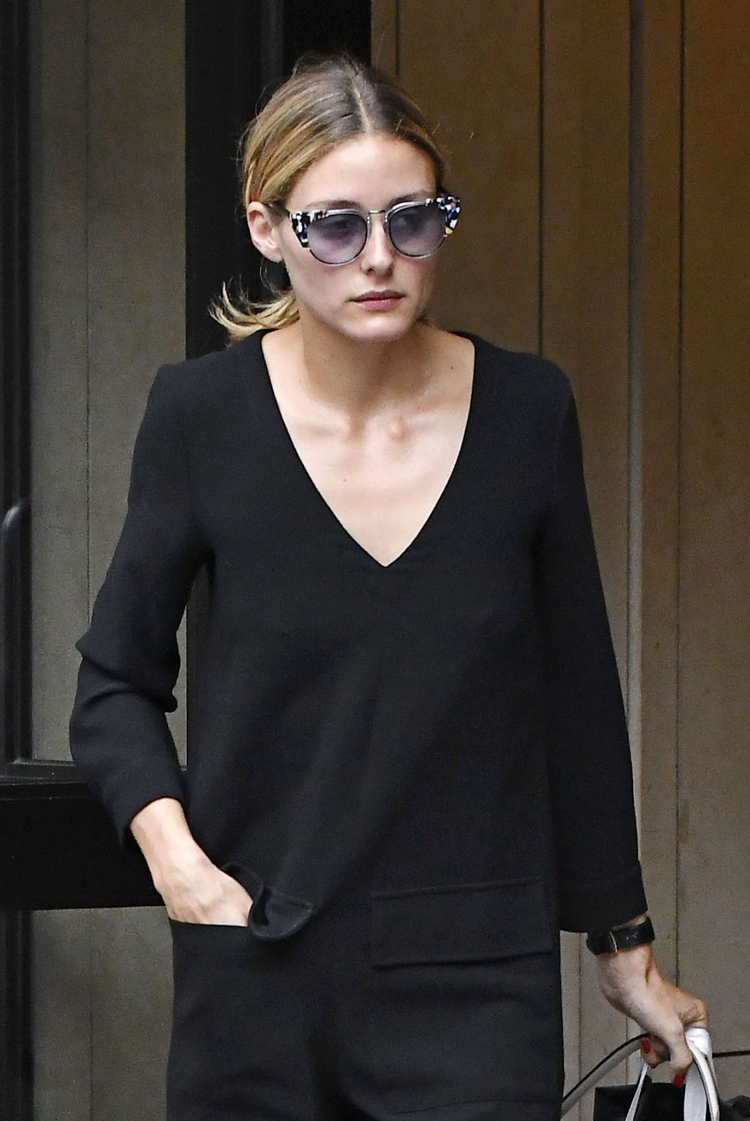 HD Photos of Olivia Palermo in black dress Out In New York