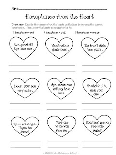 https://www.teacherspayteachers.com/Product/FREEBIE-Homophones-from-the-Heart-516062