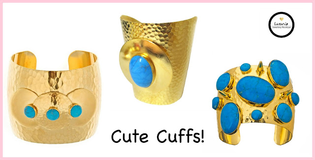 cuffs, gold jewellery, hammered jewelry, summer accessories, turquoise, glamour, jewelry