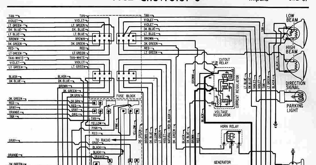 55 Chevrolet Wiring Diagram 1962 Chevrolet 6 Biscayne Belair And Impala Wiring