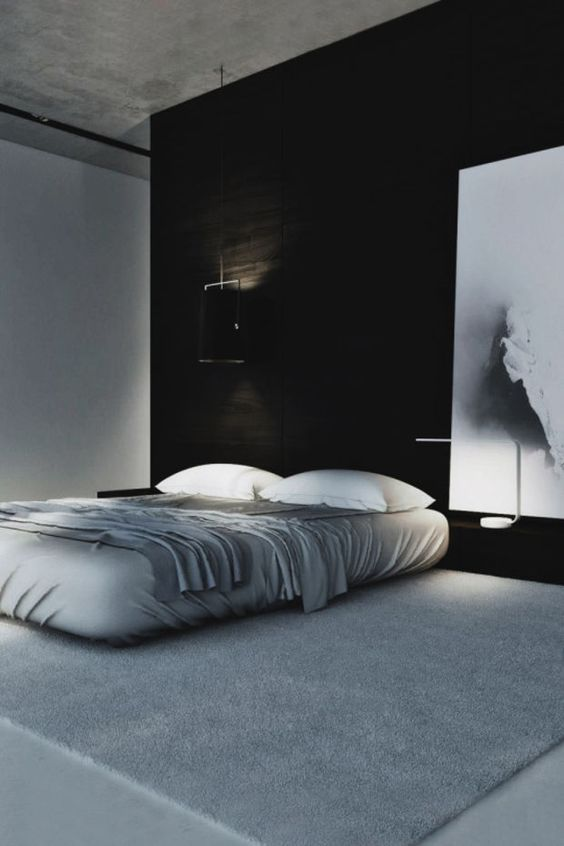 Macho moda blog de moda masculina quarto masculino for Black n white bedroom