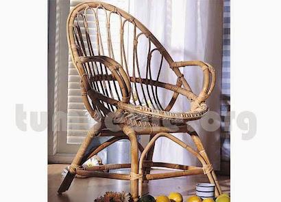 sillón en caña de bambú j512