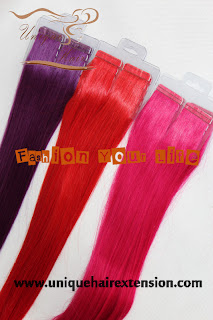 Brazilian remy tape hair extensions
