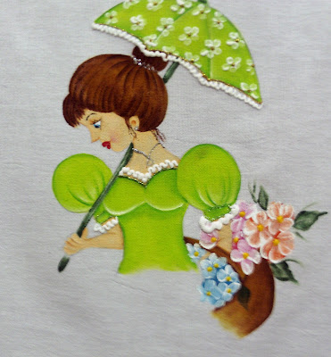 pintura em tecido boneca