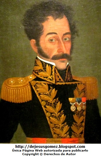 Retrato de Simón Bolivar del Museo de Arte de Lima. Foto de Simón Bolivar tomada por Jesus Gómez