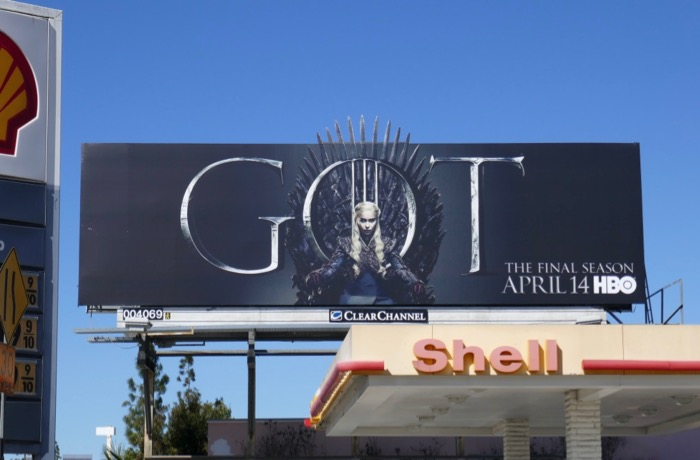 Game of Thrones final season Daeneyrs billboard