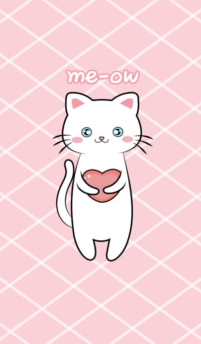 ธีมแมวเหมียวกับสีชมพู