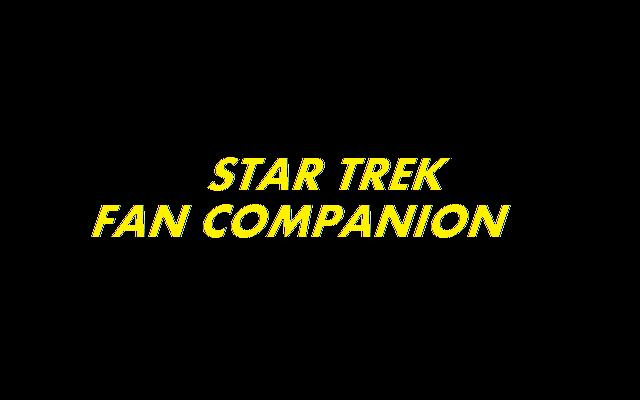 Star Trek Fan Companion