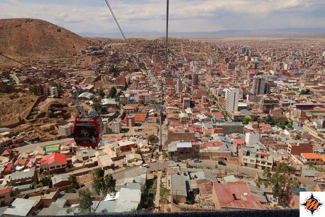 Oruro, vista dal mirador de la Virgen del Socavón