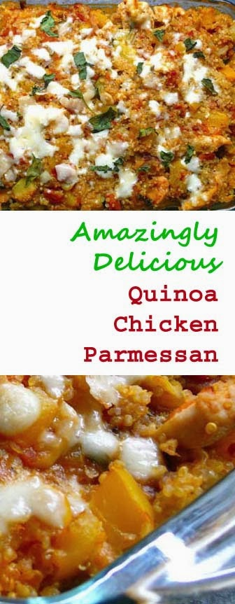 Amazingly Delish! Healthy and Low Fat Quinoa Chicken Parmesan