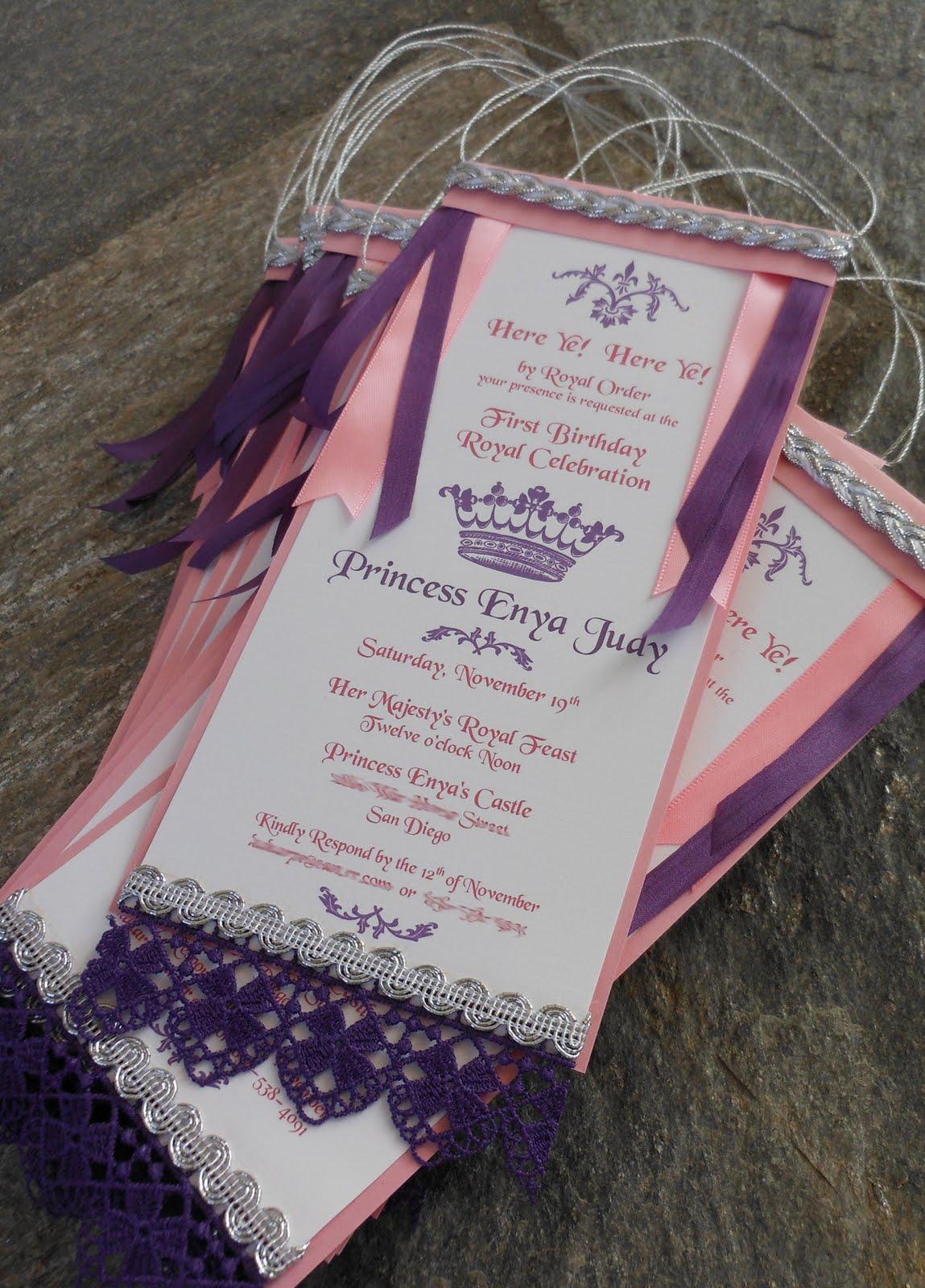 princess themed invitations