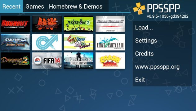 cara main game psp di android