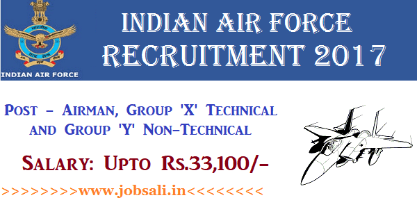 Indian Air Force Careers, Air Force Vacancy 12th pass, Air Force jobs