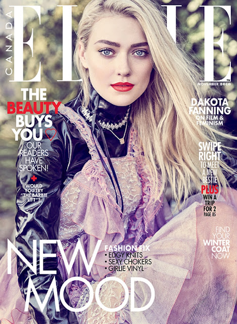 Actress, Model, @ Dakota Fanning - ELLE Canada November 2016