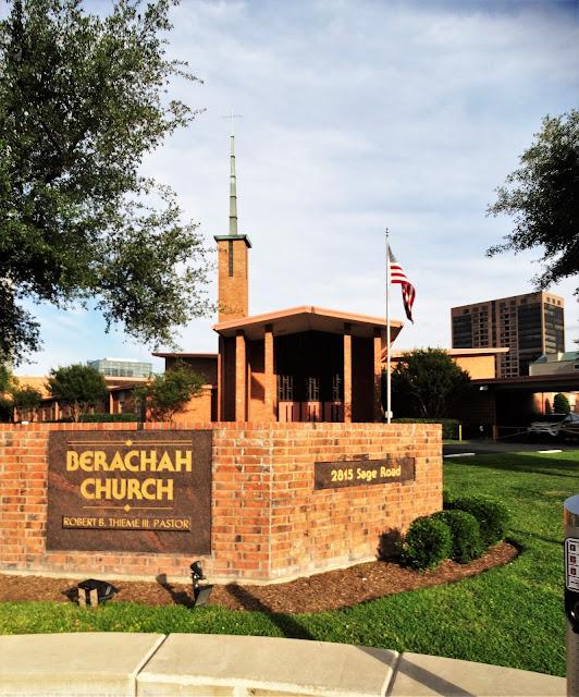 Berachah Church (corner signage) 2815 Sage Rd, Houston, TX 77056