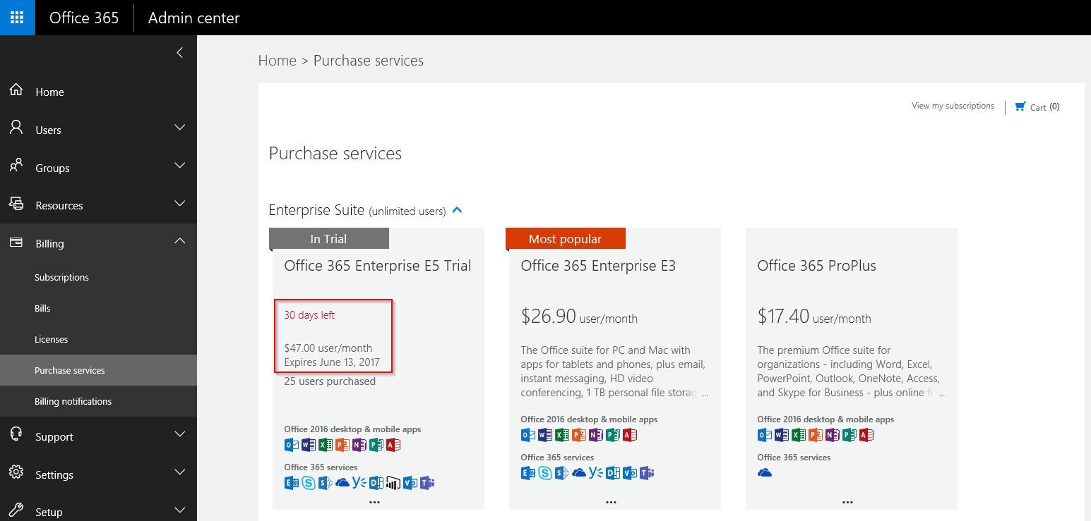 365 Admin: How to get a 180 day trial tenant in Office 365 for testing
